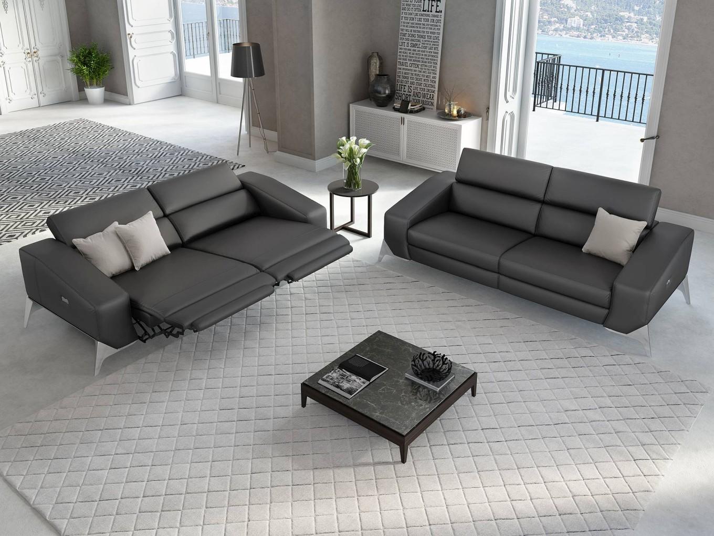 ledersofa funktionscouch leder couch garnitur tv sofa garnitur polstergarnitur ebay. Black Bedroom Furniture Sets. Home Design Ideas