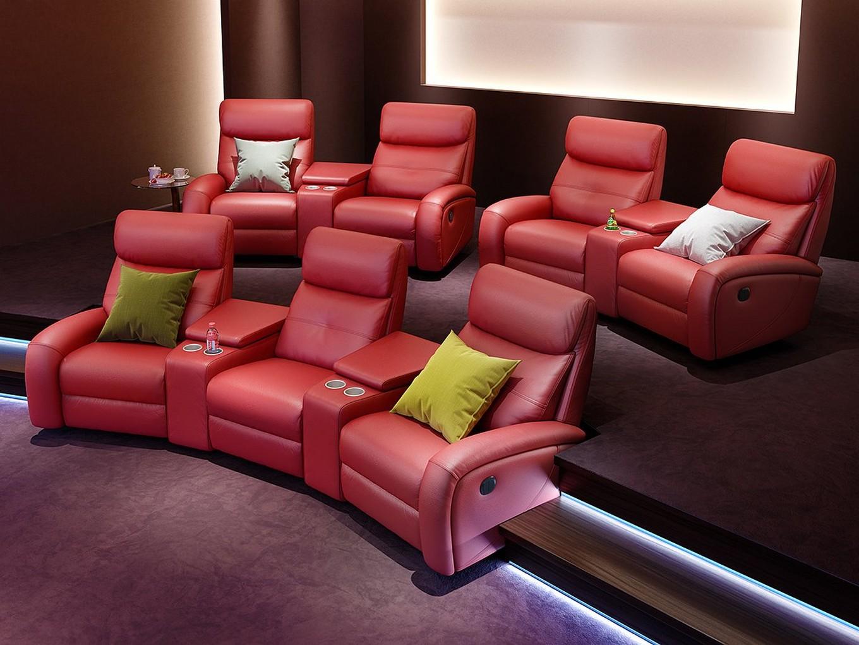 Heim Kinosofa Leder Garnitur Relax Couch TV-Sofa Kino-Sessel ...