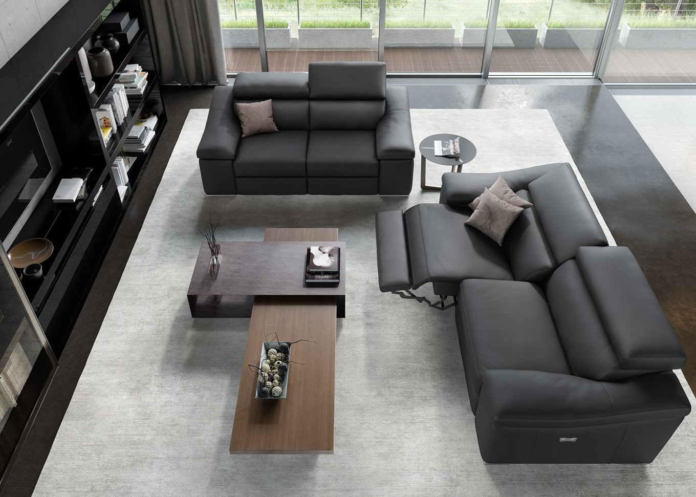 relax sofa ledersofa ledercouch funktionssofa funktionscouch sofa couch 2sitzer ebay. Black Bedroom Furniture Sets. Home Design Ideas