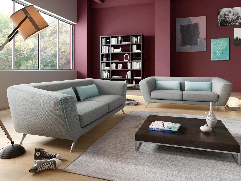 designer stoff sofagarnitur couchgarnitur 2 sitzer sofa couch modern polstersofa ebay. Black Bedroom Furniture Sets. Home Design Ideas