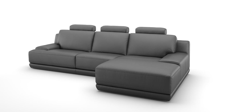 Design leder eckcouch ecksofa xxl sofa garnitur couch for Sofaecke grau
