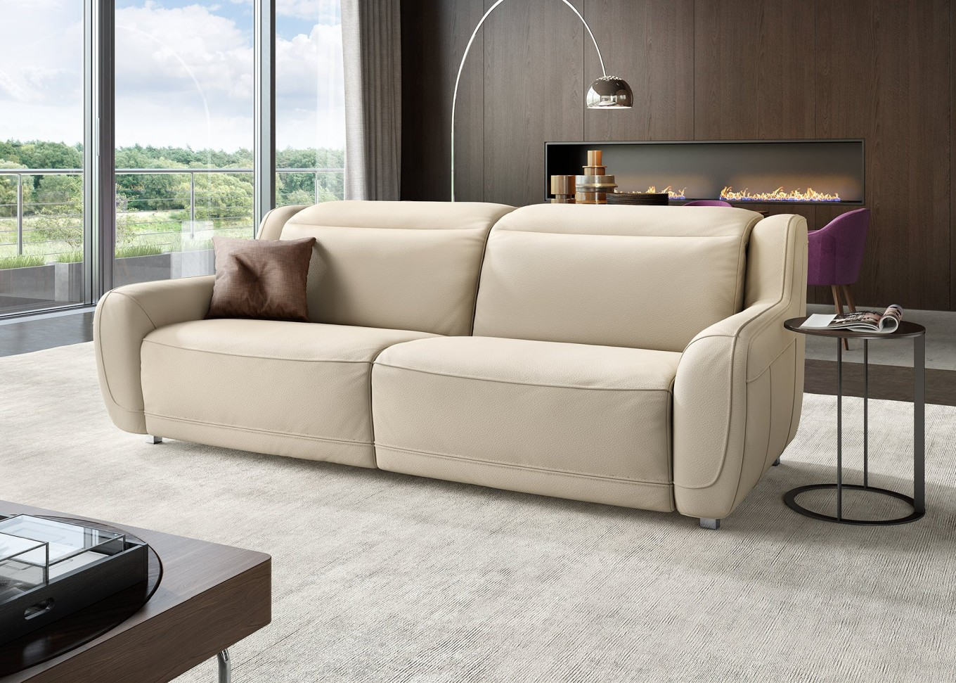 Relax leder sofa garnitur tv sessel couch garnitur for Sofa garnitur
