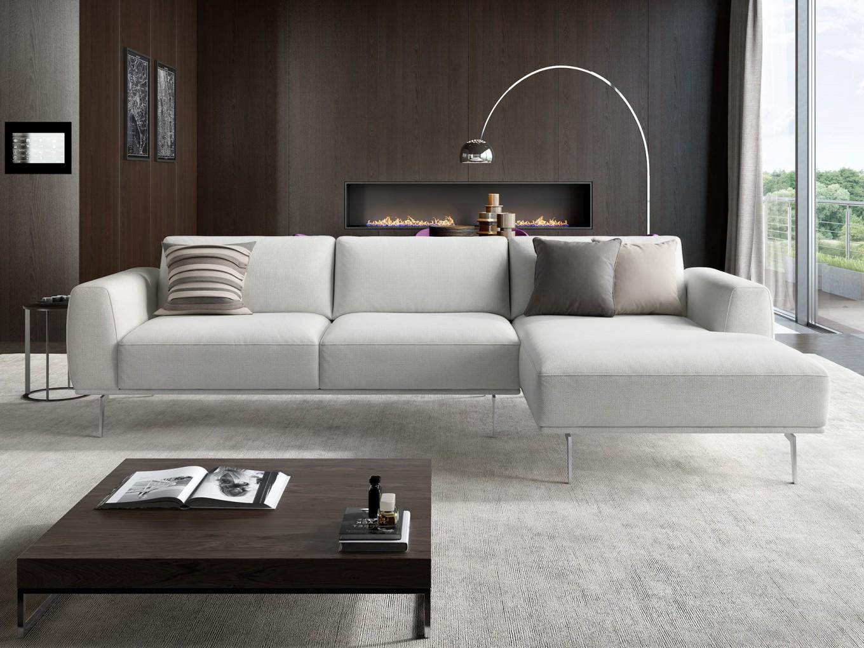 Design sofa eckcouch garnitur ecksofa textil stoff for Wohnlandschaft beige stoff