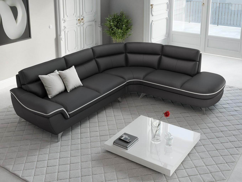 leder ecksofa garnitur runde eckcouch couchgarnitur. Black Bedroom Furniture Sets. Home Design Ideas