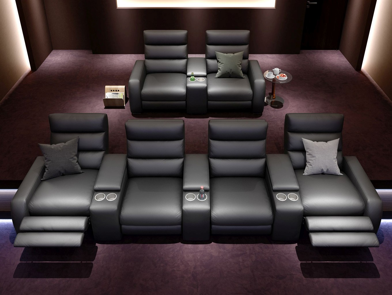 heim kinosofa relaxsofa funktionssofa leder sofa couch recliner tv relaxsessel ebay. Black Bedroom Furniture Sets. Home Design Ideas
