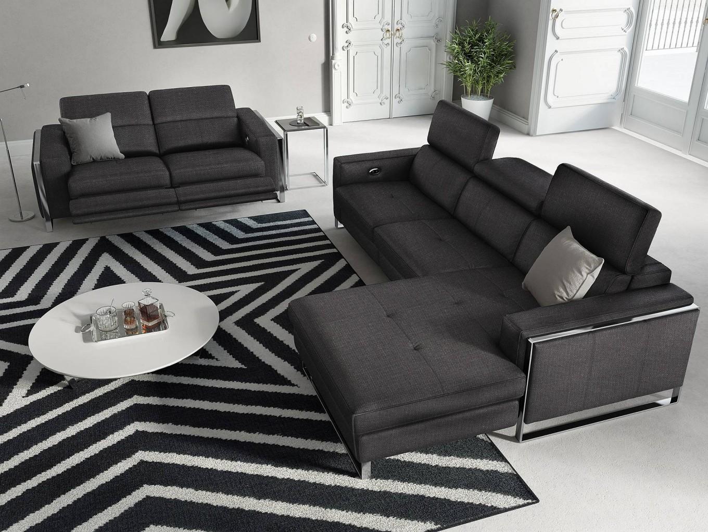 stoff sofa garnitur relax funktion couchgarnitur. Black Bedroom Furniture Sets. Home Design Ideas